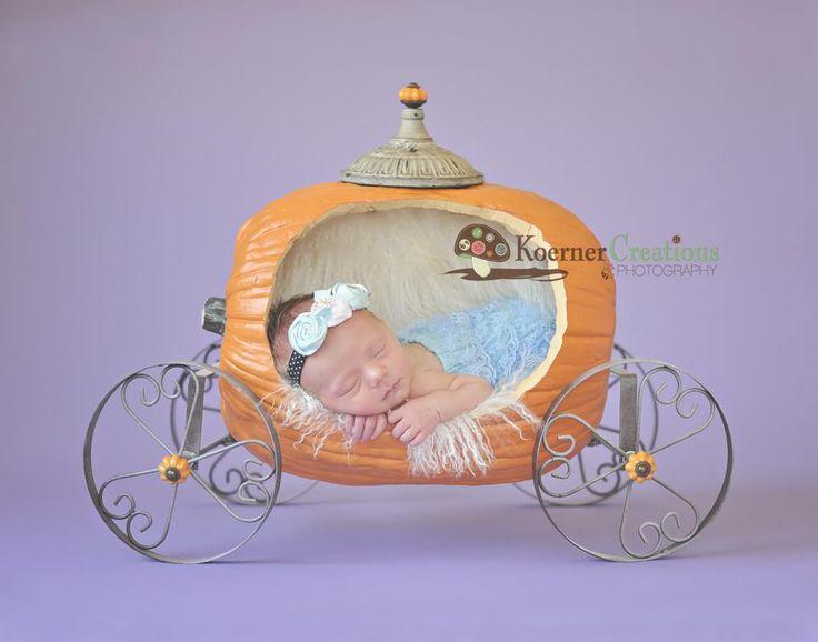 Disney Cinderella Pumpkin Newborn Baby Photography