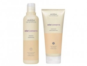 Aveda Color Conserve shampoo and conditioner. Smell great and they don't weigh my hair down. Not a high lathering shampoo or a super emollient conditioner, but they suit my hair well.