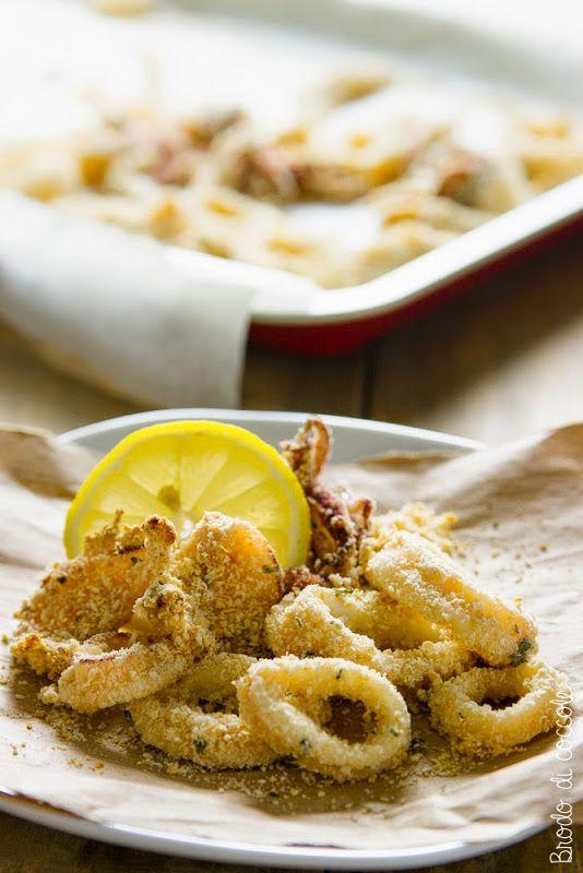 Anelli di calamaro al forno
