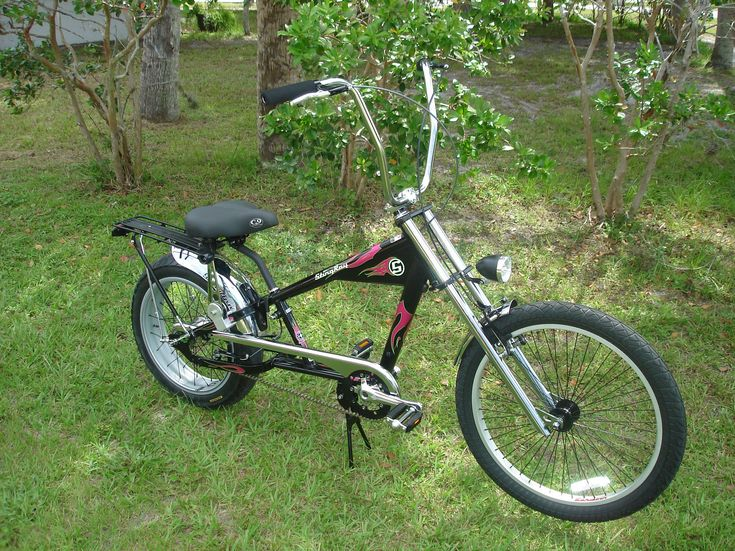 Upgrade your OCC Schwinn Stingray motorized bike from a single speed bicycle to three speed bike. That means easier non- motored pedaling.