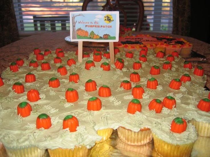 my little pumpkin 1st birthday party   ... pumpkin patch using those little candy pumpkins and they used green