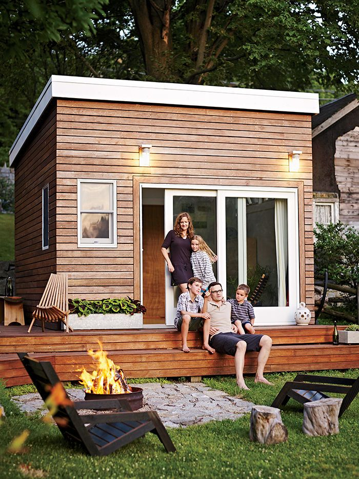 A family builds a tiny backyard studio on an even tinier budget.