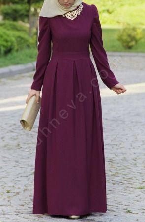 Suhneva - Prenses Elbise - Mürdüm