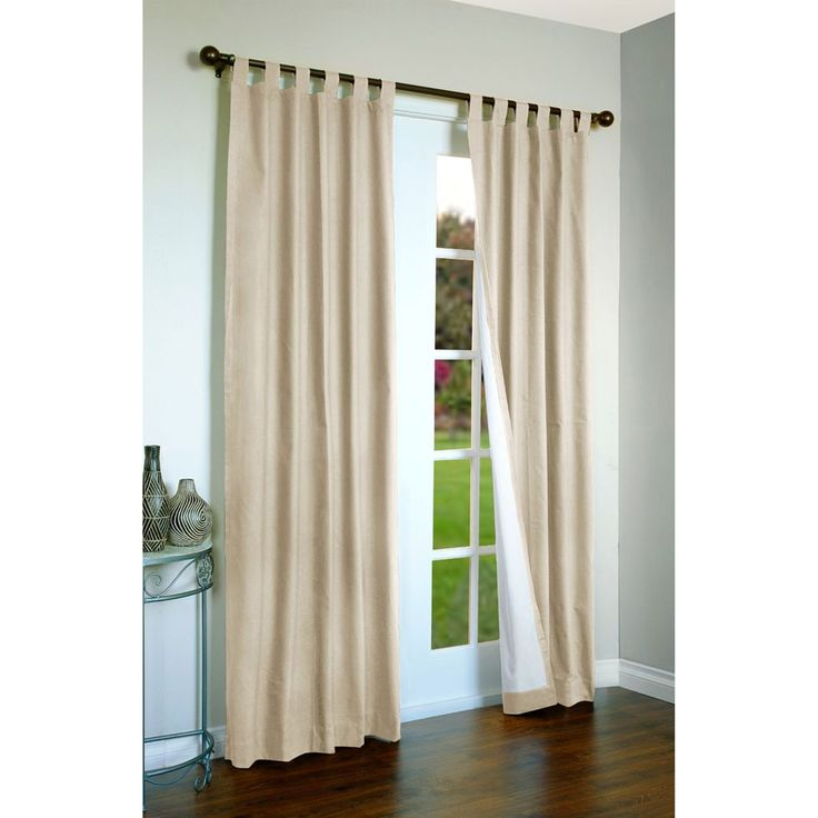 Blackout door curtains