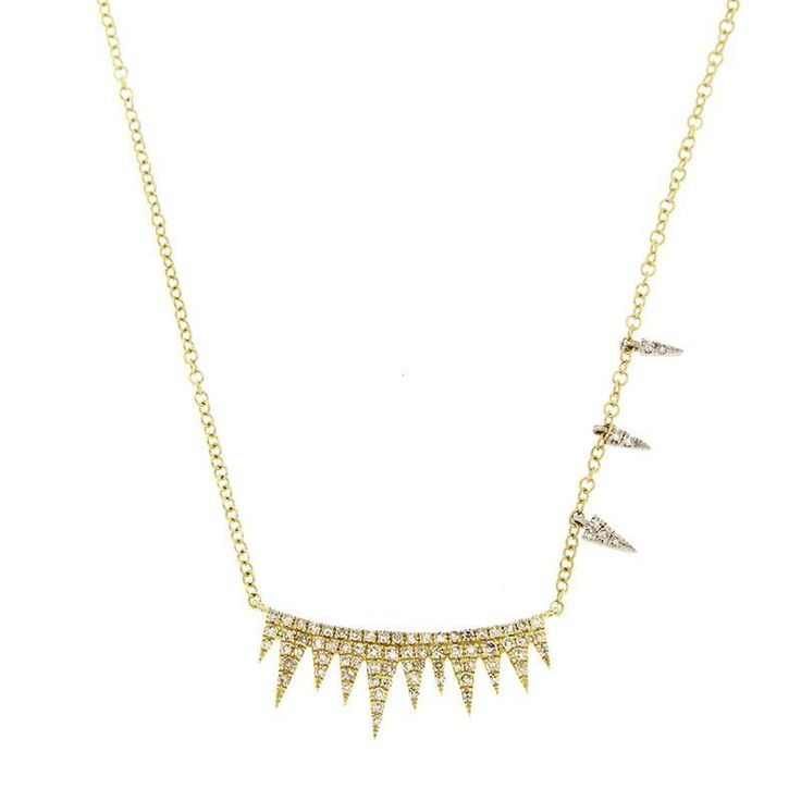 Meira T-Pave spike necklace