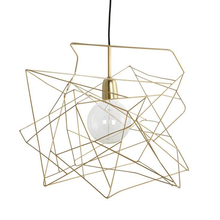 Asymmetric Lampskärm, Guld, House Doctor