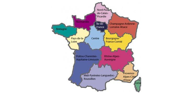 La nouvelle carte des 13 régions de France. L'Obs