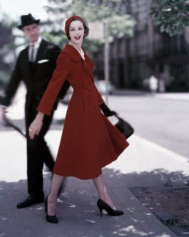 1957 Red Wool Coat