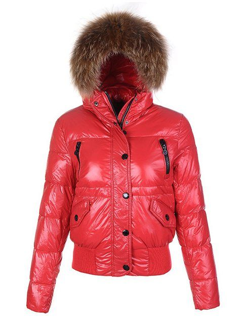 Moncler jacken outlet - Moncler Alpin Alpes Daunenjacken Damen Rot