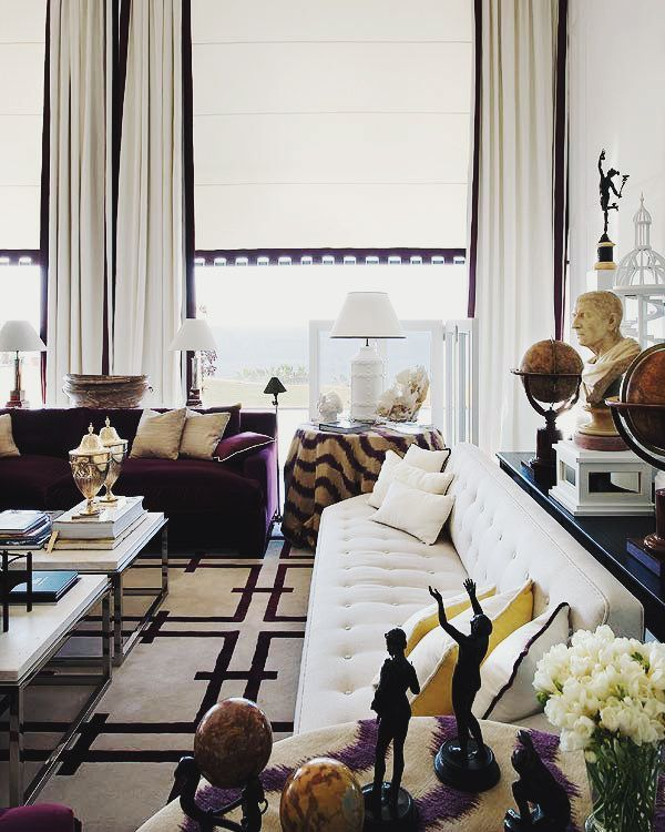 glamorous interior - soaring ceilings, magnificent windows (and treatment)