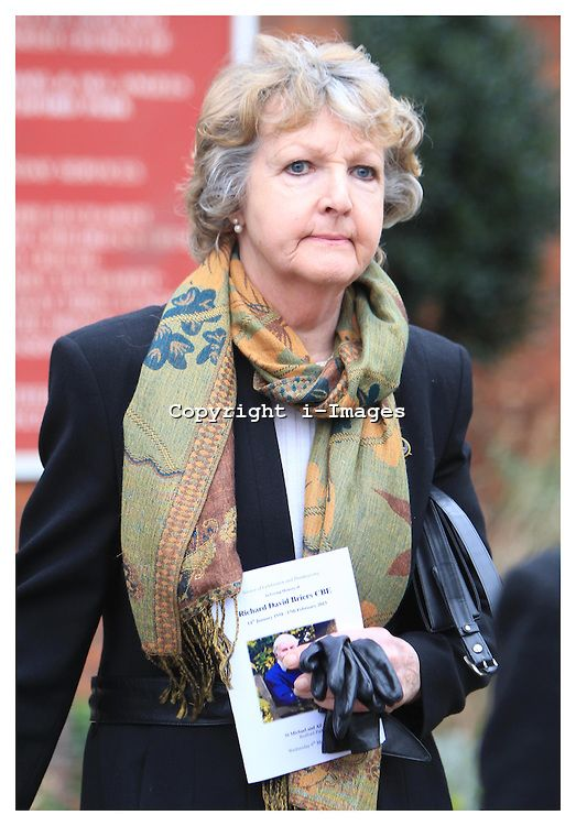 PENELOPE KEITH at the funeral of Richard Briers, West London, London, UK, March 6, 2013. Photo by: i-Images...Contact..Andrew Parsons: 00447545 311662.Stephen Lock: 00447860204379