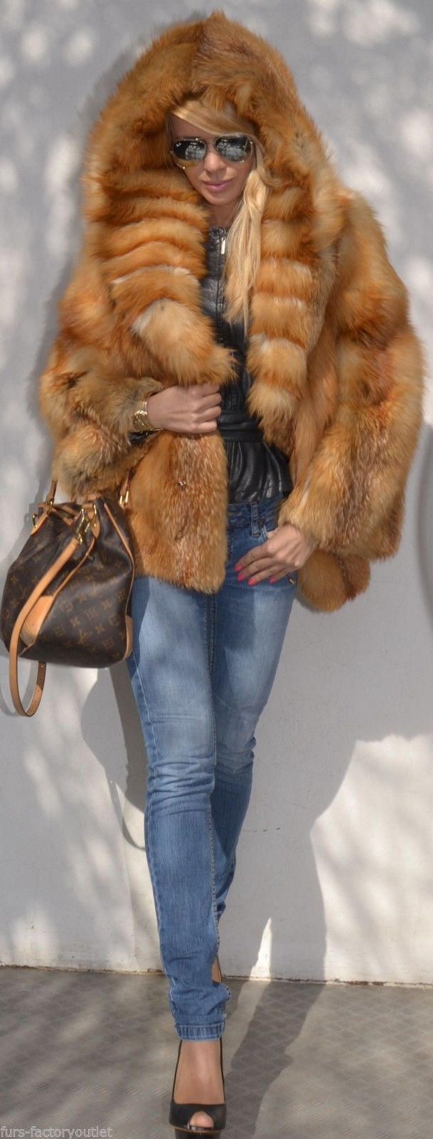 Lafuria FOX Jacket FUR Fuchs Jacke WIE Nerzjacke Mink Coat Mantel Zobel Pelz | eBay