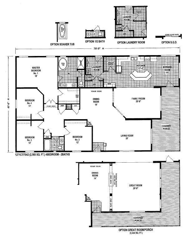 12 best home manufactured home images on pinterest for 55 wide house plans