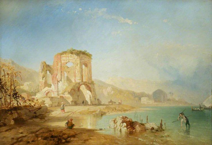 James Baker Pyne - circa 1855 Temple at Baiae