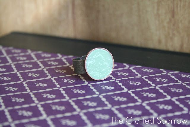 DIY Coin Ring - it will only cost you a Penny! - The Crafted Sparrow