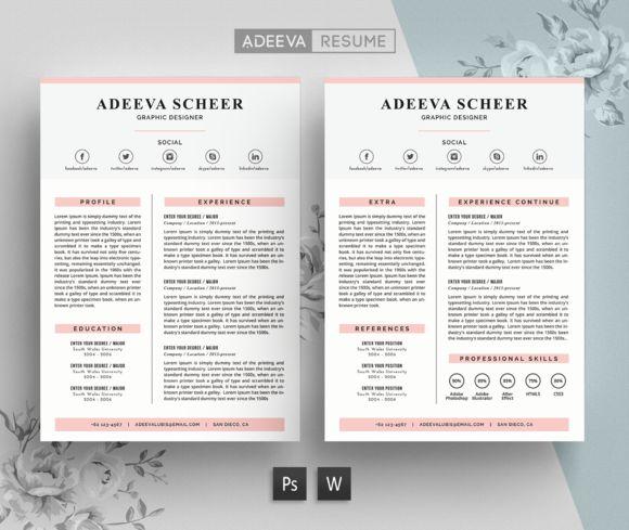 Simple Resume Template Scheer by AdeevaResume on @creativemarket