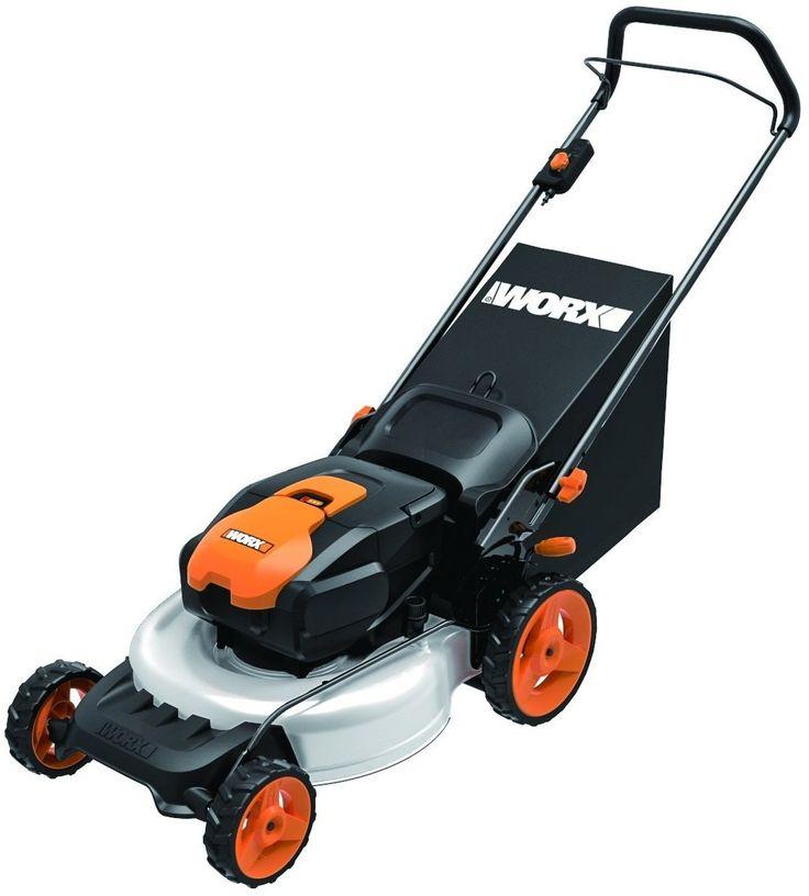 "Worx WG770 2-in-1 Cordless Lawn Mower, 19"", 36 Volt"
