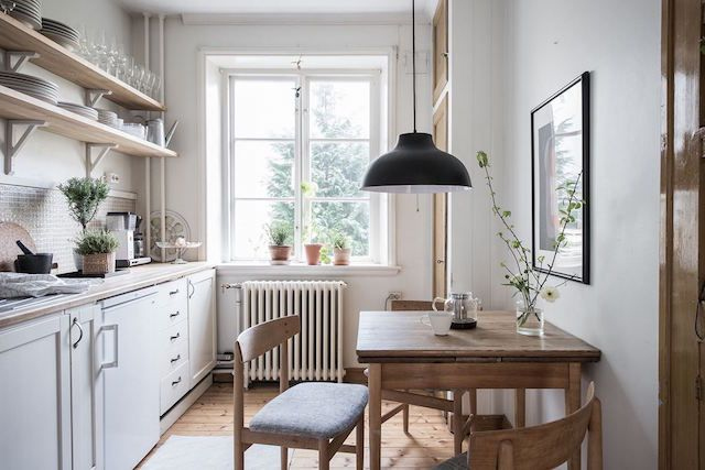 A charming Swedish home in white, wood and ochre