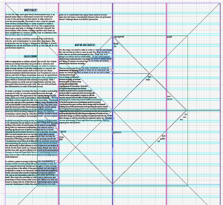 Creating layers to place my text.