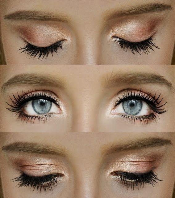 Makeup for droopy eyes. PROTIP: Don't put mascara on the outer forth of the upper eyelashes, it just drags the eye down more. Try it, cover the outer 4th of the top eyelashes with your finger and see the difference.