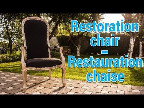 DIY Restoration chair - Tuto Restauration chaise fauteuil voltaire - YouTube