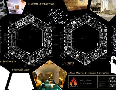 """Check out new work on my @Behance portfolio: """"Hideout Hotel"""" http://on.be.net/1B9zzbF"""