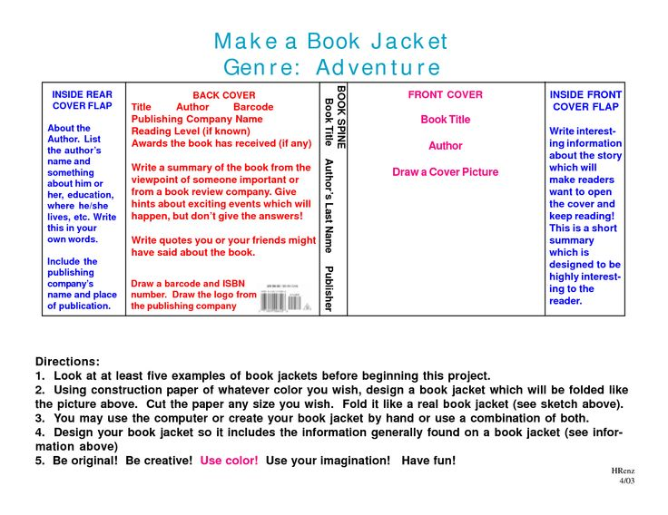 Book Jacket Template | Print | Pinterest | Book, Templates and ...