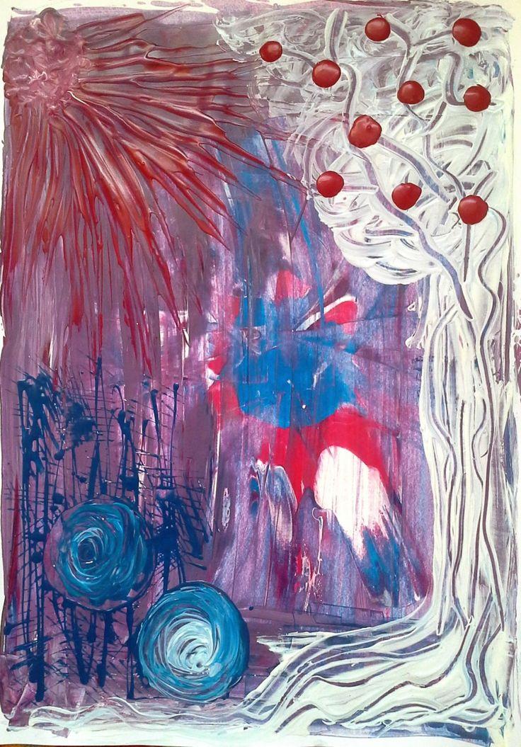 Der Baum der Erkenntnis - Dufthuhn.de  #Acryl #dufthuhn.de