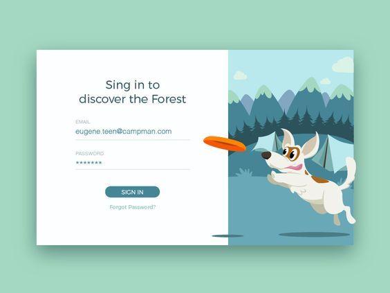 Let's Go Outdoors | Design concept | Login page design, Web
