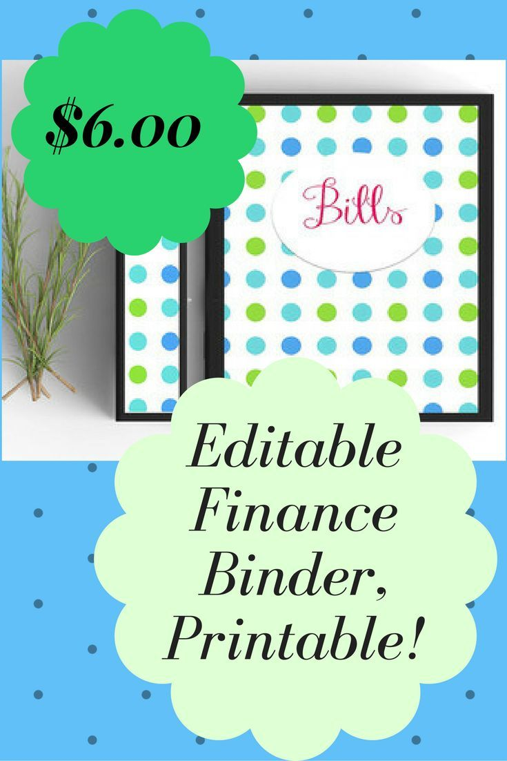 Easily get your bill in order with this ready printable and editable bills binder kit!