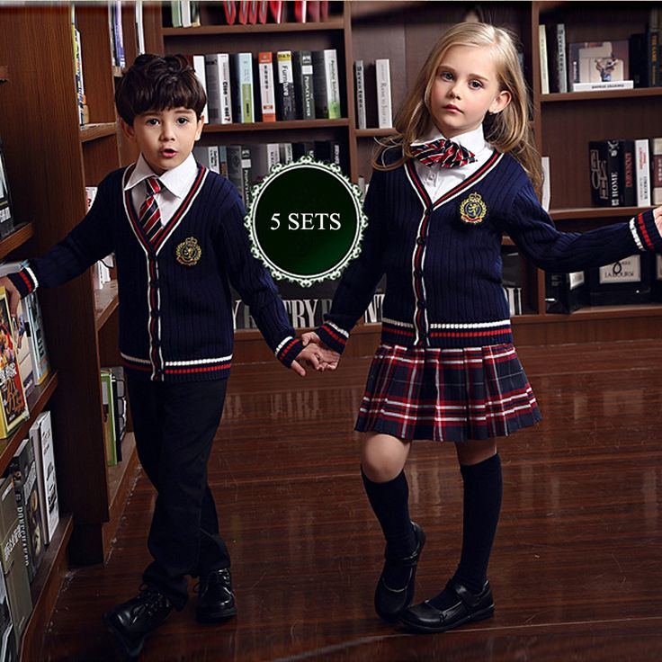 Cheap Clothing Sets, Buy Directly from China Suppliers:British korean japanese school uniform kids clothes uniforme escolar children girls and boys clothing Sweater vest skirt