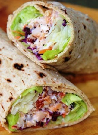 Cranberry Cherry Chicken Wrap. If you are looking for a quick and healthy lunch wrap, here's one you might try on for size. This wrap comes ...