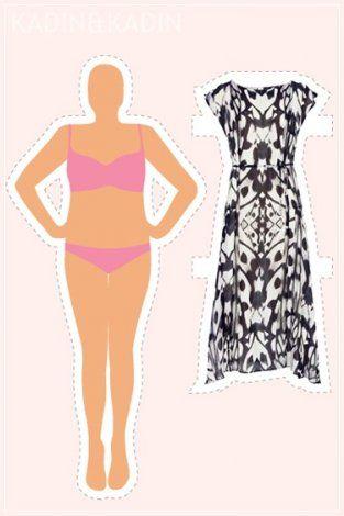14 vücut tipi için 14 elbise modeli 7