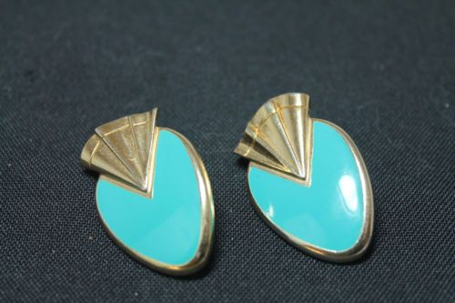 Vintage Fashion Jewelry Turquoise Color Clip On Earrings Free Shipping 111 #Gifts