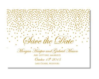 Printable Wedding Place Cards  Gold Wedding  Gold Sparkles