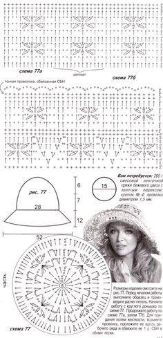 вязание летней шляпы