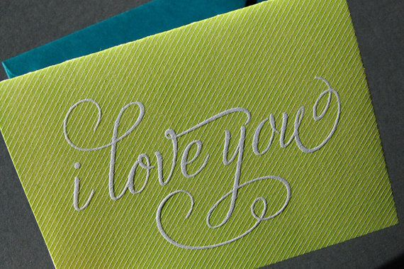 Best 25 I Love You Calligraphy Ideas On Pinterest
