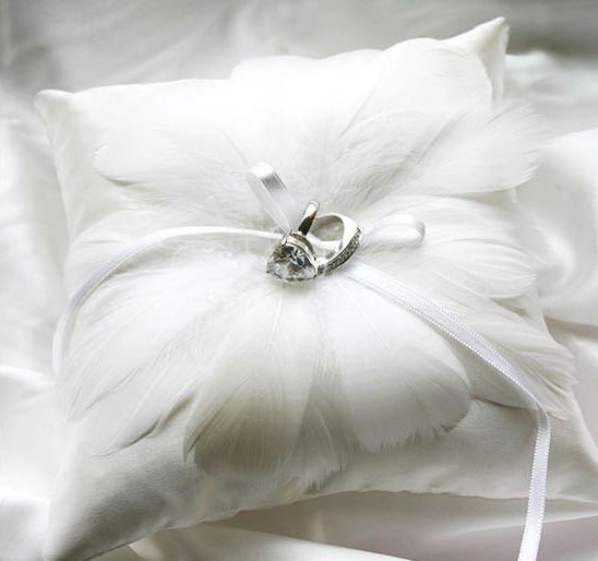 [바보사랑] 스완 웨딩 링 쿠션 /웨딩/웨딩소품/파티소품/링쿠션/링필로우/웨딩데코/신혼소품/웨딩링/반지/화동/깃털/Wedding/Party/Cushion/Pillow/Decorations/Ring/Feathers