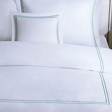 Madison Park Signature 1000-Thread-Count Embroidered Full/Queen Duvet Cover Set in Aqua