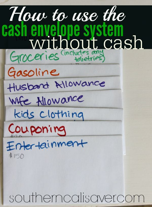 How To Use Cash Envelope System Without Cash. Now you have no excuse not to do this!