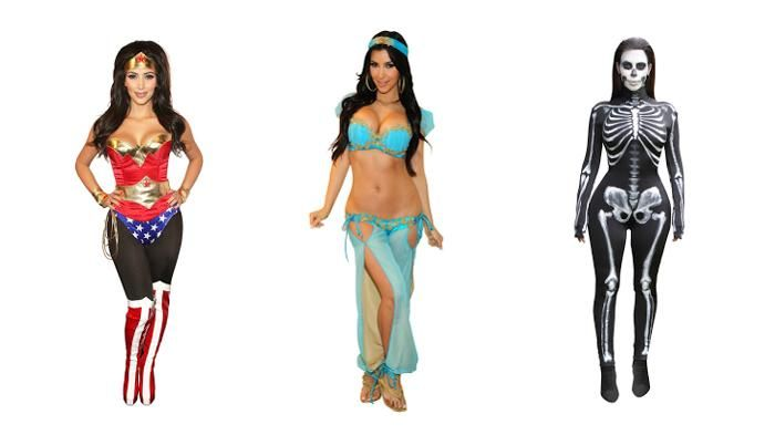 Fashion Halloween Kim Kardashian - 5 Kostum Seksi, Dari Princess Jasmine Hingga…