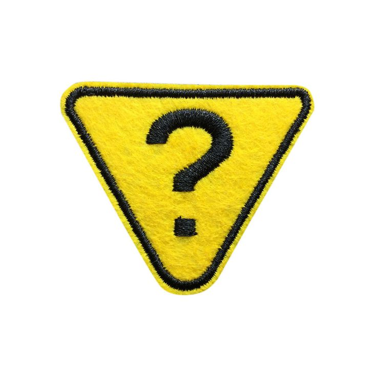 Question Mark Patch Embroidered Iron On Patch Punk Patches
