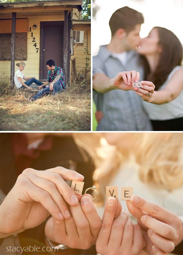 Scrabble engagement photos