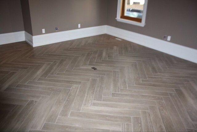 Love Herring Bone Floor Pattern And This Faux Wood Tile Is Pretty Neat Diy Pinterest Tiles Flooring Home