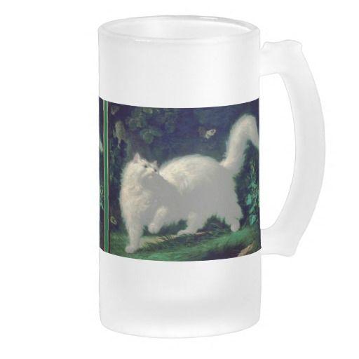 Angora cat mug