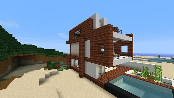 Minecraft Beach House | Small Modern Beach House Schematic Minecraft Project