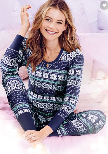 Get a pair of FREE slippers when you purchase a pair of thermal pjs at Victoria s  Secret. Click through for details.  d84d6881a