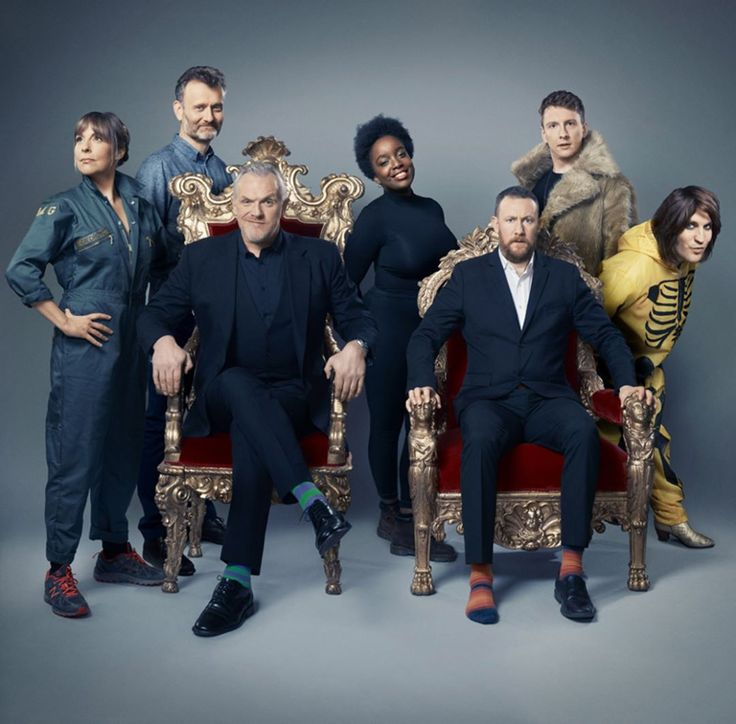 Series 4 contestants | Mel Giedroyc, Hugh Dennis, Lolly Adefope, Joe Lycett, and Noel Fielding with Greg Davies and Alex Horne | Taskmaster