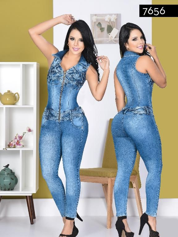Gobernable Jarra sabor dulce  Enterizo Levantacola Colombiano Yes Brazil - Ref. 113 -7656 | Colourful  outfits, Fashion romper, Denim fashion