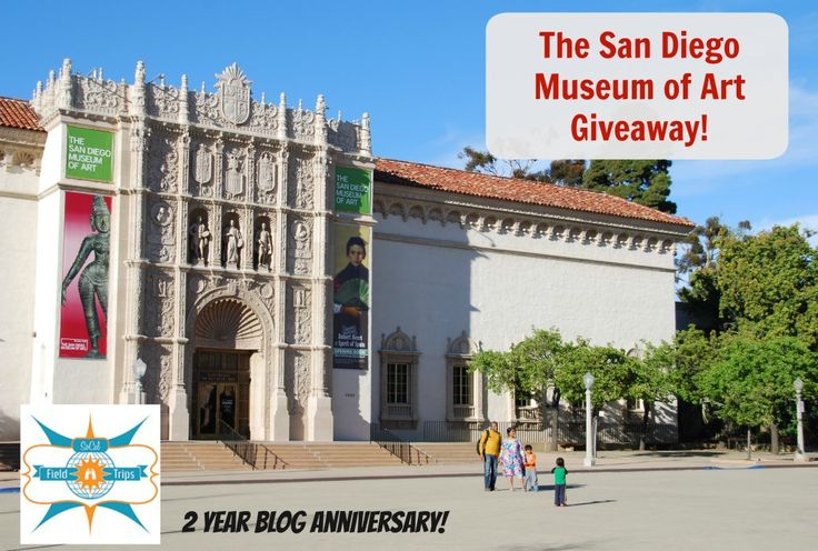 The San Diego Museum of Art offers FREE ADMISSION to San Diego County Residents on the third Tuesday of the month!  Also children 6 and under always FREE!  Enter for a chance to win 4 tickets!!!
